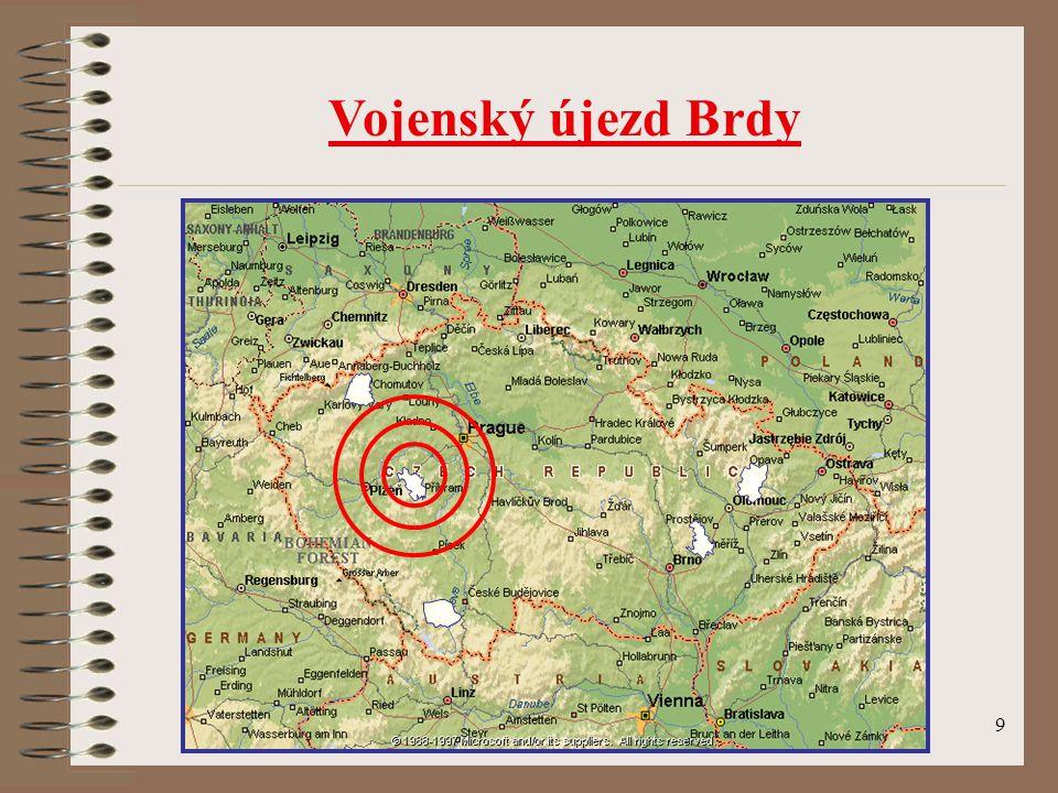 30 Informace o možnostech vstupu a režimu pohybu na území Vojenského újezdu Brdy podává Újezdní úřad Vojenského újezdu Brdy se sídlem v Jincích pplk.