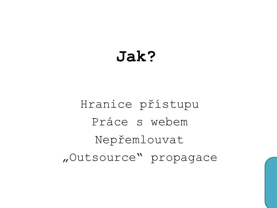 """Jak Hranice přístupu Práce s webem Nepřemlouvat """"Outsource propagace"""