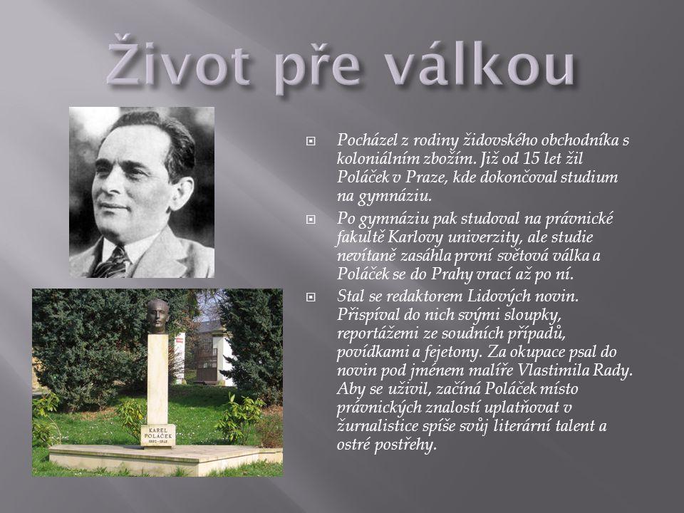  Okupace a rasová perzekuce ho donutily pracovat v Židovské náboženské obci jako knihovník.