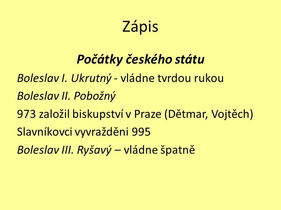 Zakresli do mapy, kde byl Levý Hradec a Stará Boleslav.