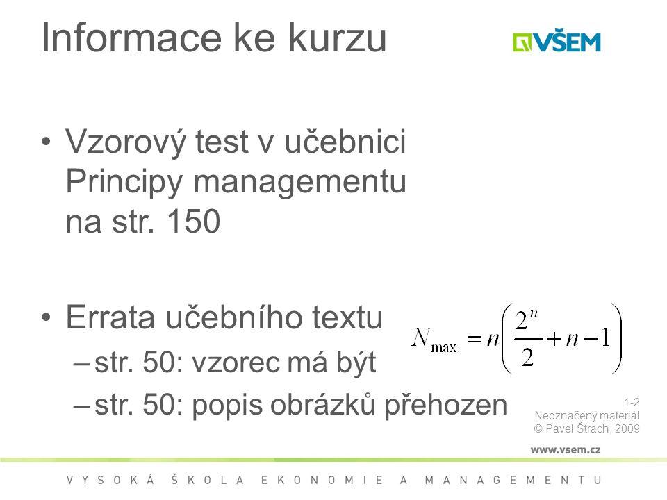 Organizování (II.) Source (on 1 Sept 2009): http://www-kasm.nii.ac.jp/papers/takeda/05/WWW2005WS/semblog-net.png Příklad interpersonálních vazeb – neformální organizační struktury 3-73 Neoznačený materiál © Pavel Štrach, 2009