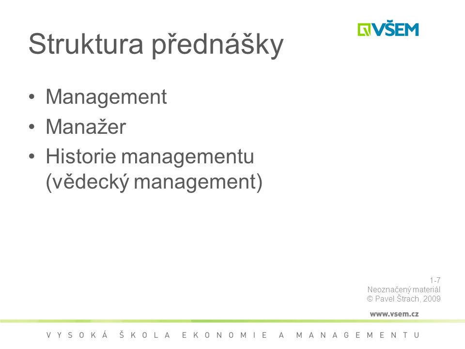 Předmět, hlediska a rozsah Předmětem kontroly (tím, co se kontroluje) může být: –proces X produkt X osoba X stav Rozsah kontroly: –Kontrola úplná nemožnost totální kontroly –Kontrola neúplná náhodný výběr, statistický výběr Hlediska kontroly –ekonomická X kvantitativní X kvalitativní X časová (viz následující slide) 5-128 Neoznačený materiál © Pavel Štrach, 2009