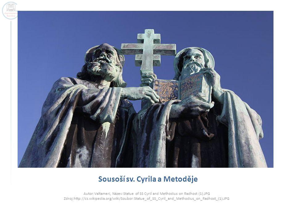 Sousoší sv. Cyrila a Metoděje Autor:Valtameri, Název:Statue of SS Cyril and Methodius on Radhost (1).JPG Zdroj:http://cs.wikipedia.org/wiki/Soubor:Sta