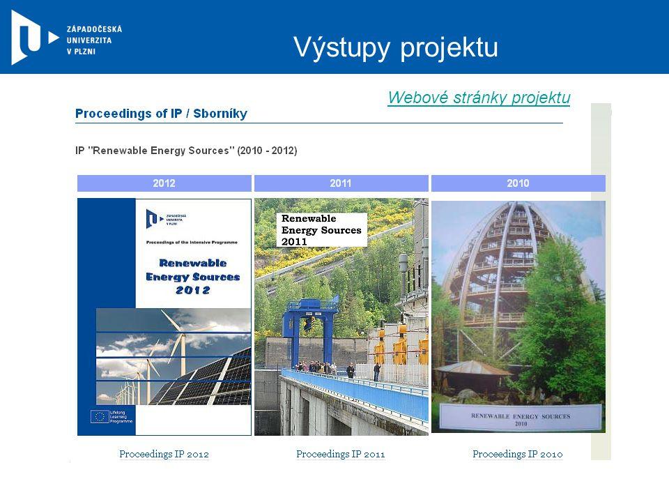 Výstupy projektu Webové stránky projektu