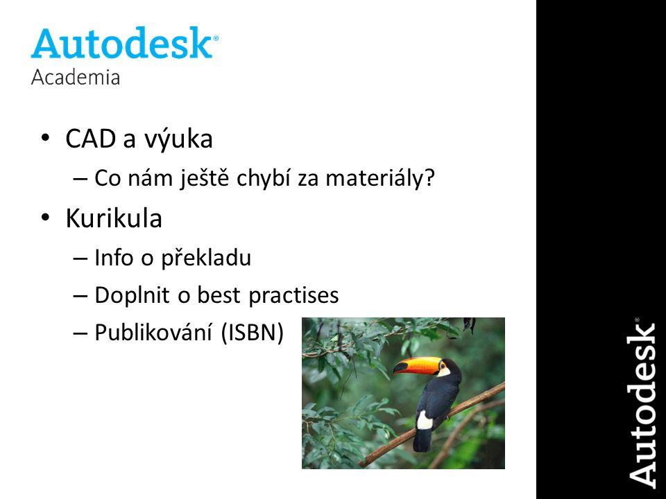 CAD a výuka – Co nám ještě chybí za materiály.