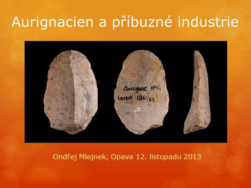 Aurignacien a příbuzné industrie Ondřej Mlejnek, Opava 12. listopadu 2013