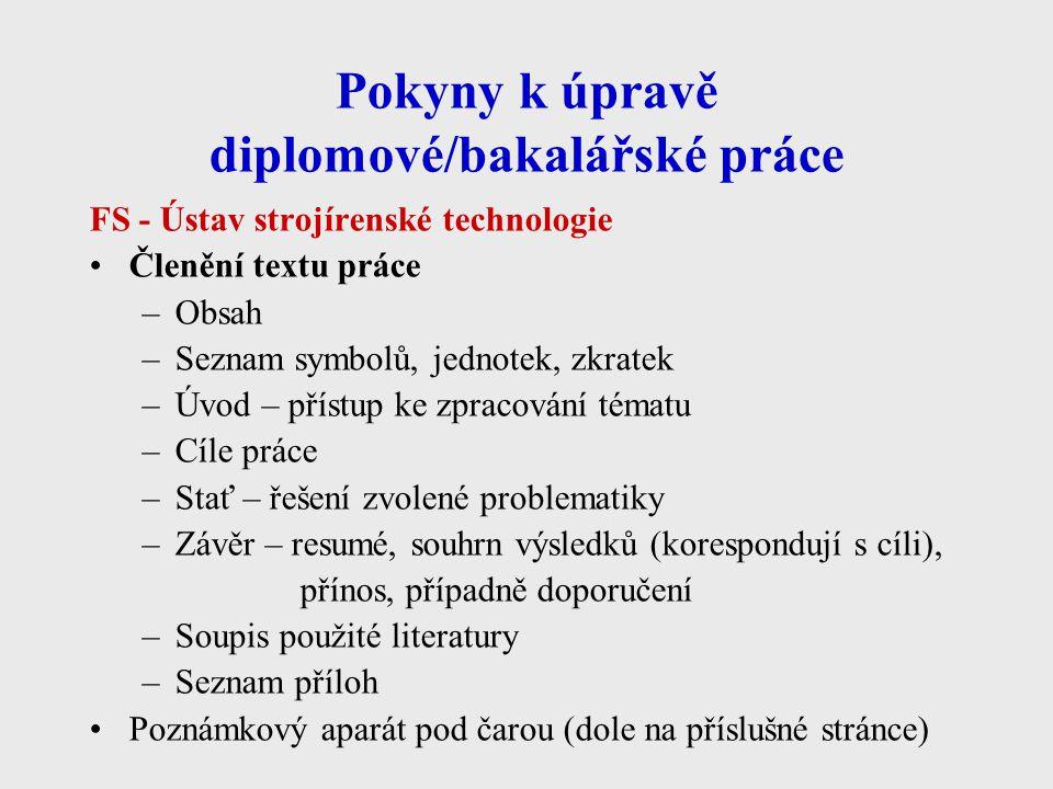 ČSN ISO 690 - příklady citací 4 Patent 6.NOVÁ HUŤ, A.S., OSTRAVA.