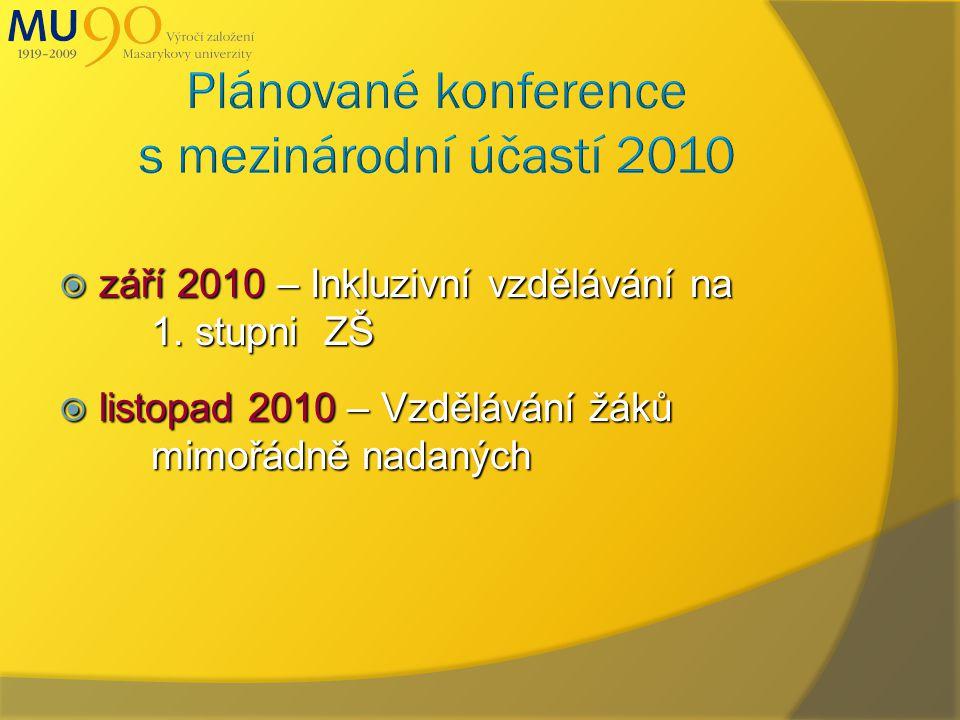  září 2010 – Inkluzivní vzdělávání na 1.