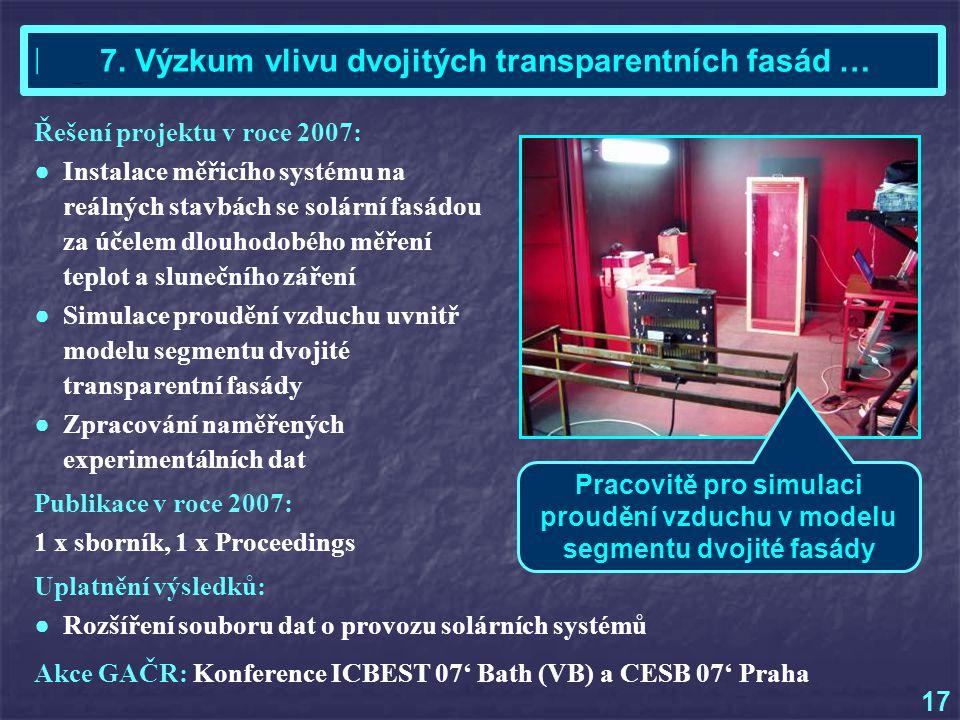 Akce GAČR: Konference ICBEST 07' Bath (VB) a CESB 07' Praha Ing.