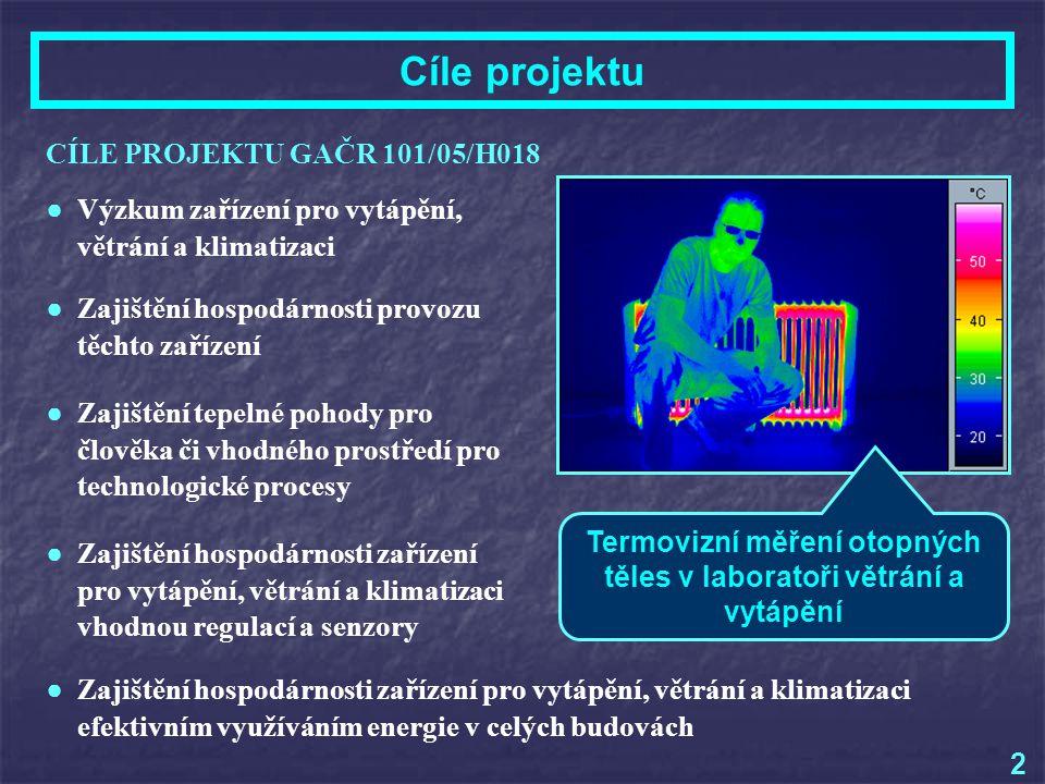 Čerpání finančních prostředků VĚCNÉ PROSTŘEDKY: ● Provozní náklady Přístroje pro měření t, p b, w, Tu, , CO 2, světelného a slunečního záření.