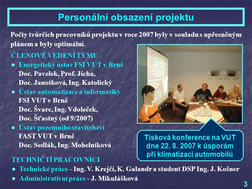 FUNKCE STUDENTŮ V ŘEŠITELSKÉM TÝMU V ROCE 2007 ● Vedoucí hodnotícího semináře Ing.