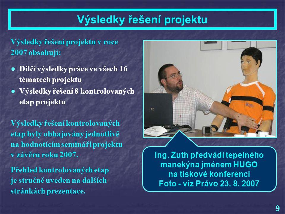 Přehled kontrolovaných etap projektu ● Ing.
