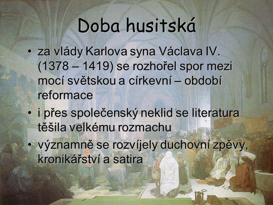 Mistr Jan Hus kněz, univerzitní profesor a rektor pražské univerzity kázal v Betlémské kapli v Praze změnil pravopis ze spřežkového na diakritický nahradil spřežky diakritickými znaménky (např.