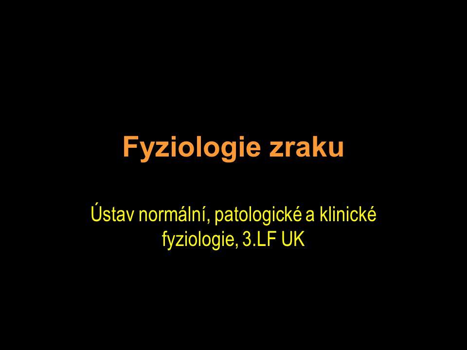 Fyziologie zraku Ústav normální, patologické a klinické fyziologie, 3.LF UK