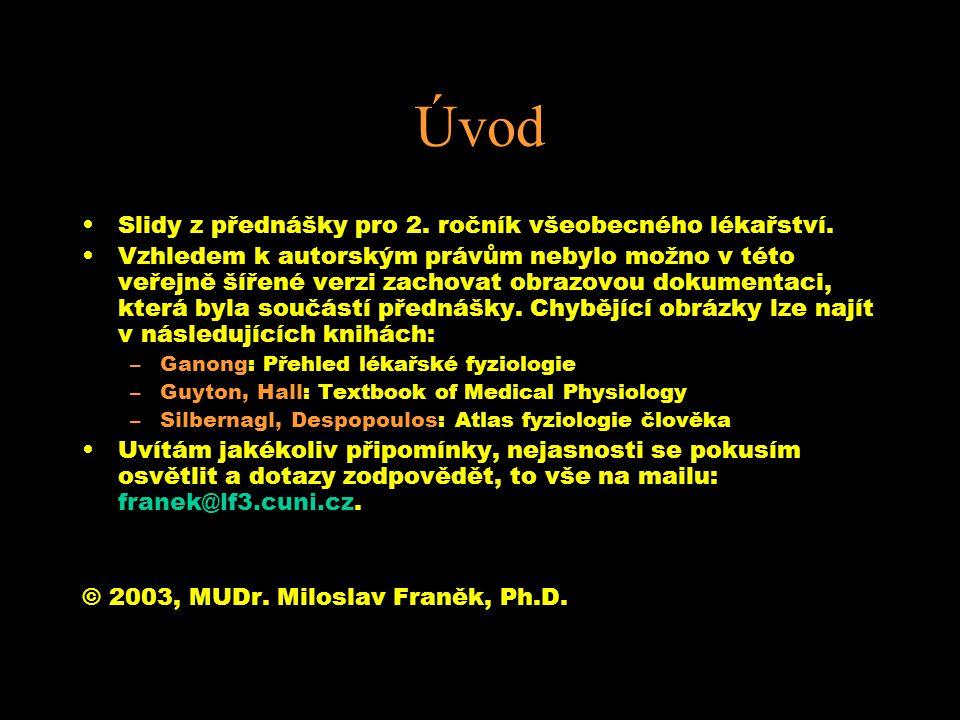 Úvod Slidy z přednášky pro 2. ročník všeobecného lékařství. Vzhledem k autorským právům nebylo možno v této veřejně šířené verzi zachovat obrazovou do