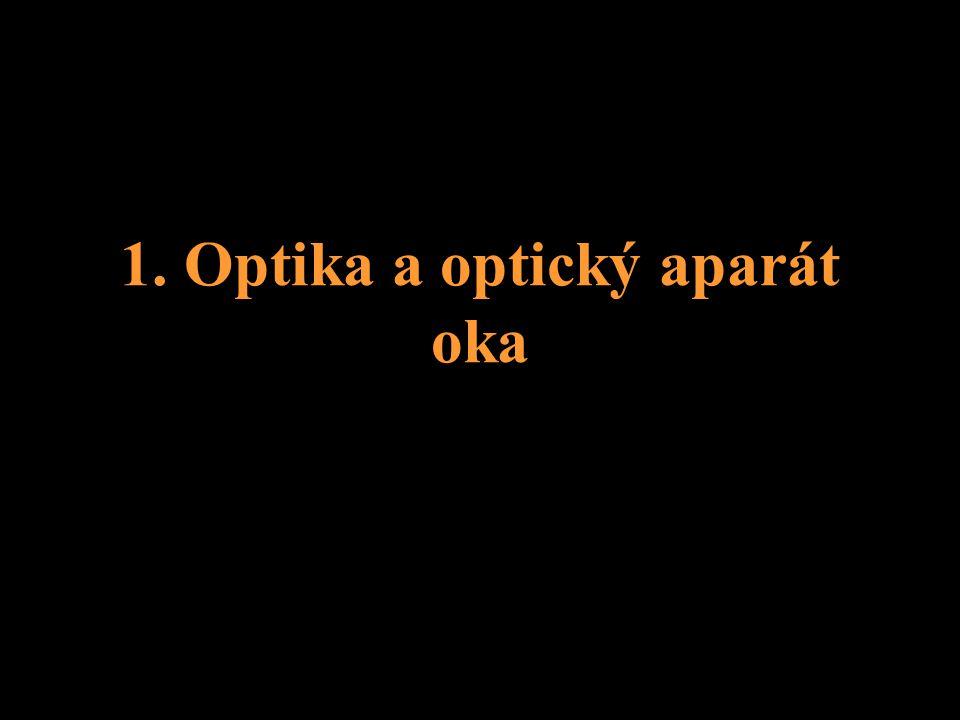 1. Optika a optický aparát oka