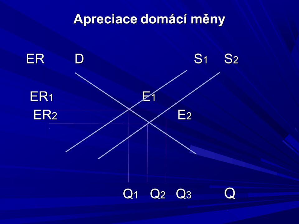 Apreciace domácí měny ERD S 1 S 2 ER 1 E 1 ER 1 E 1 ER 2 E 2 ER 2 E 2 Q 1 Q 2 Q 3 Q Q 1 Q 2 Q 3 Q