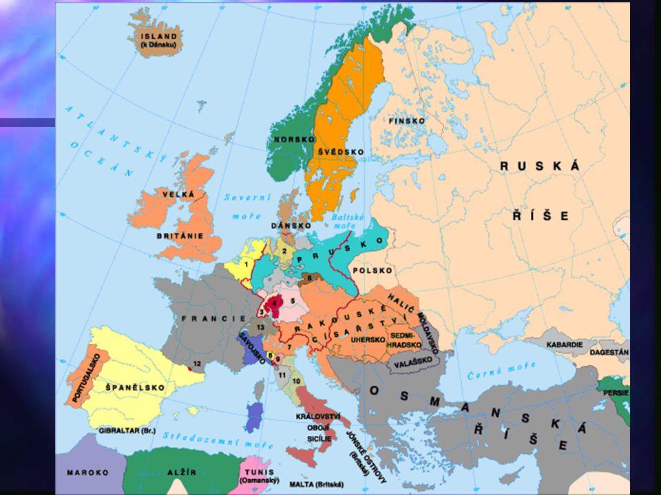 Vídeňský kongres - závěry Obecně: pilířem poválečné Evropy byly dvě spojenecké smlouvy: Obecně: pilířem poválečné Evropy byly dvě spojenecké smlouvy: a) Spojenecká původně s protifrancouzským zaměřením, později na udržení rovnováhy v Evropě – duchovním otcem William Pitt (britský premiér do 1806) – a hlavním organizátorem Metternich: Británie, Rakousko, Rusko, Prusko a) Spojenecká původně s protifrancouzským zaměřením, později na udržení rovnováhy v Evropě – duchovním otcem William Pitt (britský premiér do 1806) – a hlavním organizátorem Metternich: Británie, Rakousko, Rusko, Prusko
