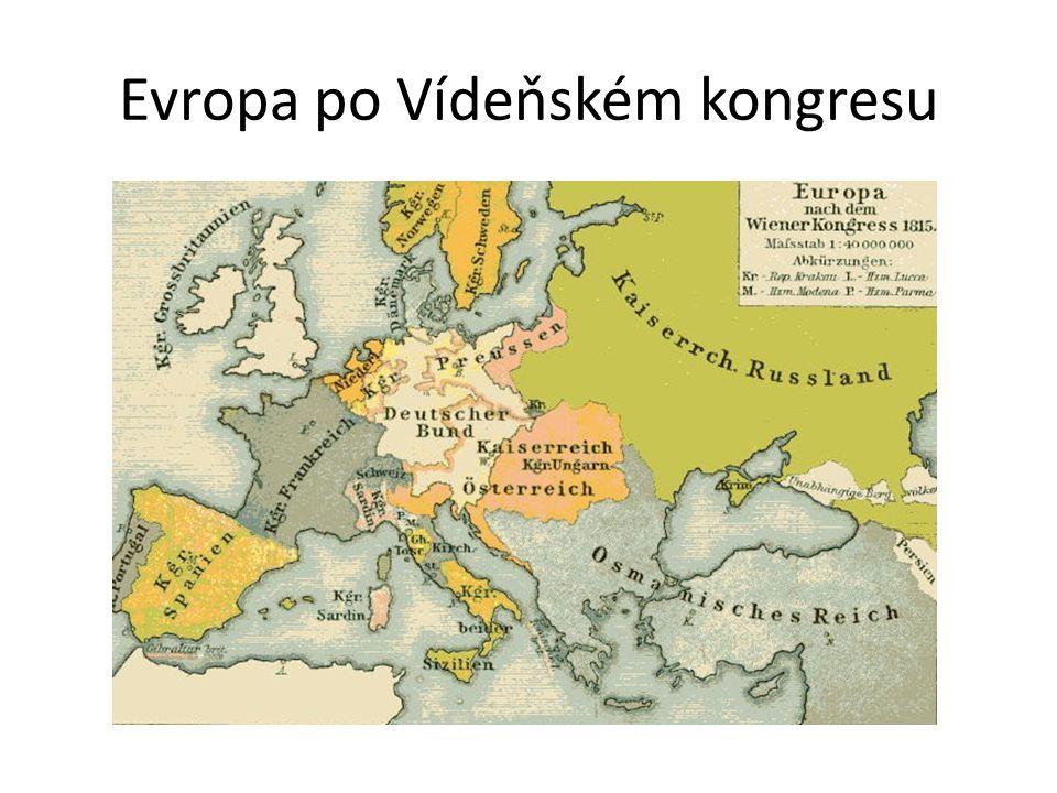 Evropa po Vídeňském kongresu