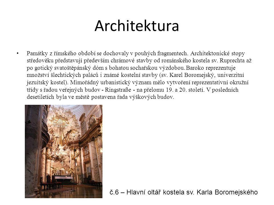 Architektura Památky z římského období se dochovaly v pouhých fragmentech. Architektonické stopy středověku představují především chrámové stavby od r
