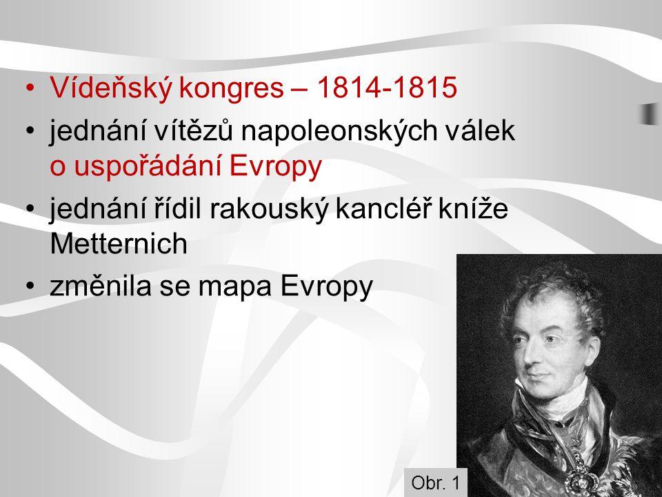 Vídeňský kongres Obr. 2