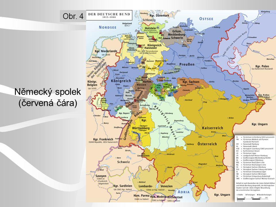 Německý spolek (červená čára) Obr. 4
