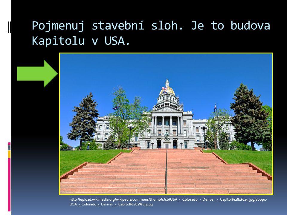 Pojmenuj stavební sloh.Je to budova Kapitolu v USA.