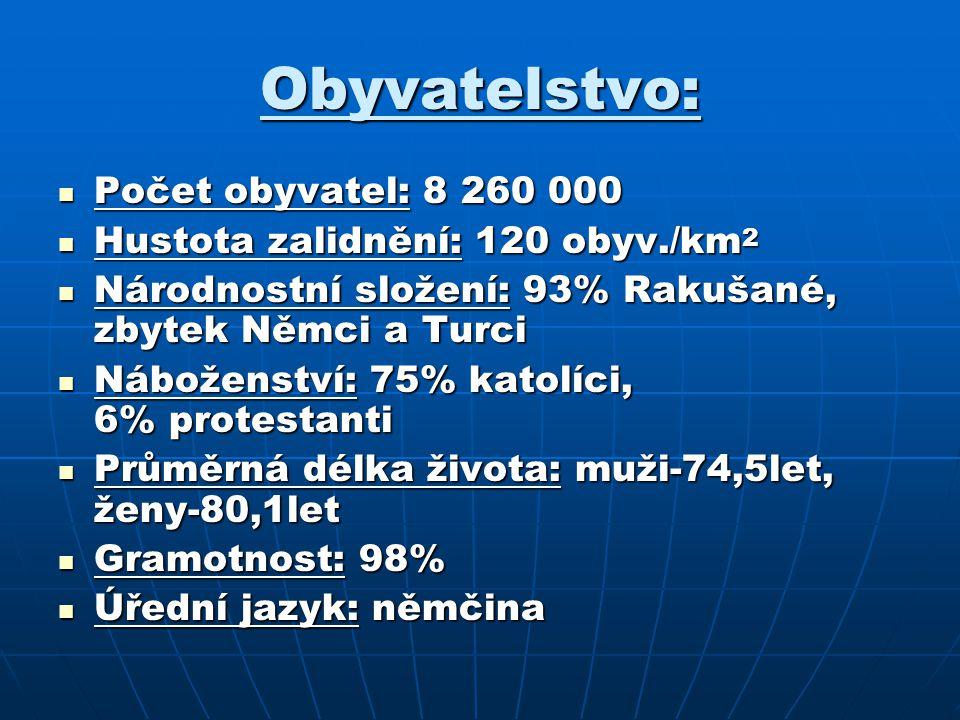 Obyvatelstvo: Počet obyvatel: 8 260 000 Počet obyvatel: 8 260 000 Hustota zalidnění: 120 obyv./km 2 Hustota zalidnění: 120 obyv./km 2 Národnostní slož
