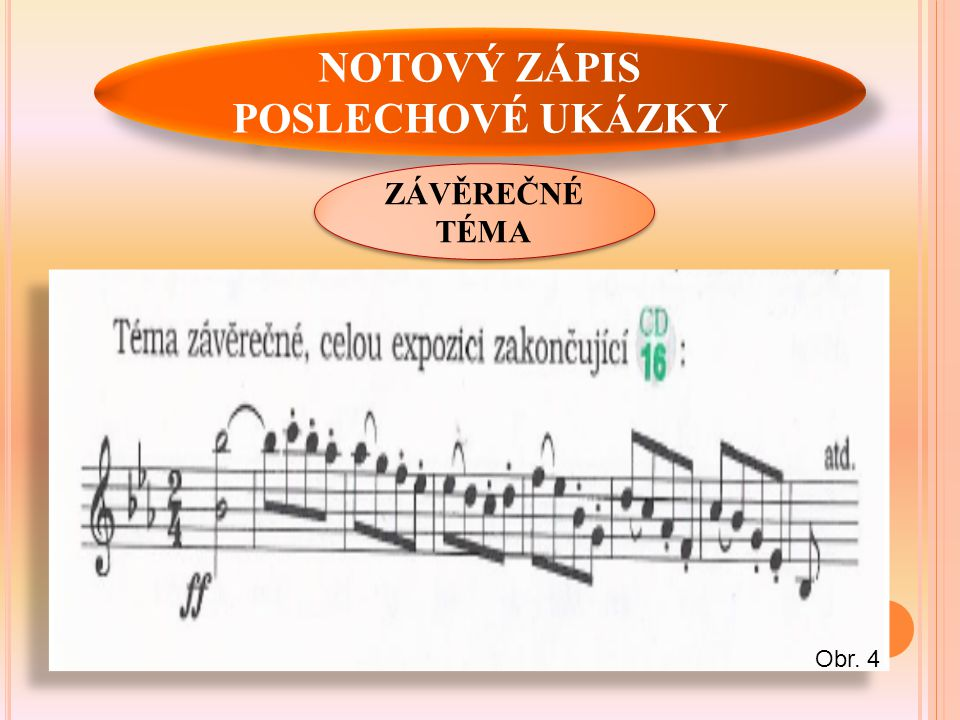 NOTOVÝ ZÁPIS POSLECHOVÉ UKÁZKY ZÁVĚREČNÉ TÉMA Obr. 4