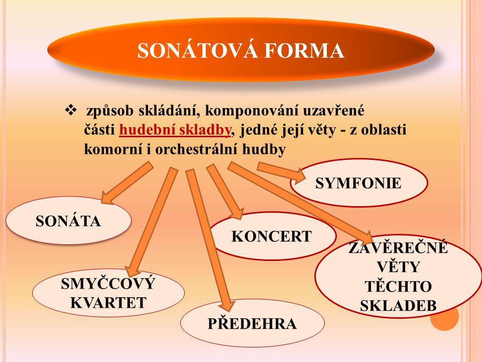 Z HISTORIE … 17.stol. KLASICISMUS  Počátky sonáty sahají do období raného klasicismu.