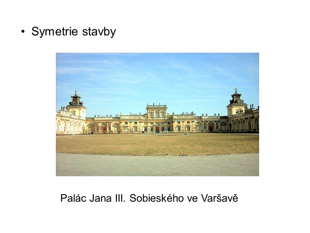 Palác Jana III. Sobieského ve Varšavě Symetrie stavby
