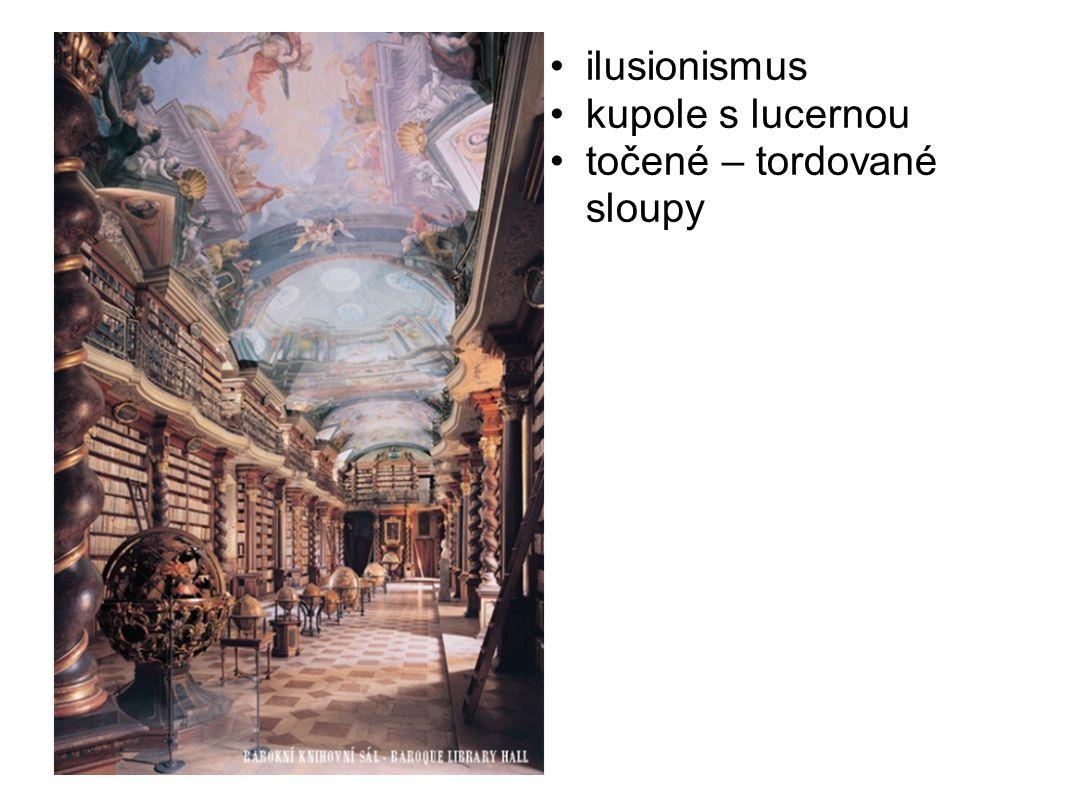 ilusionismus kupole s lucernou točené – tordované sloupy