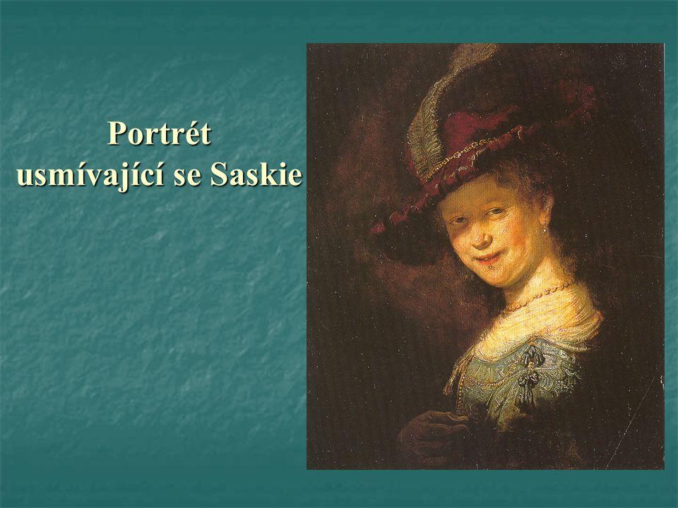Portrét usmívající se Saskie
