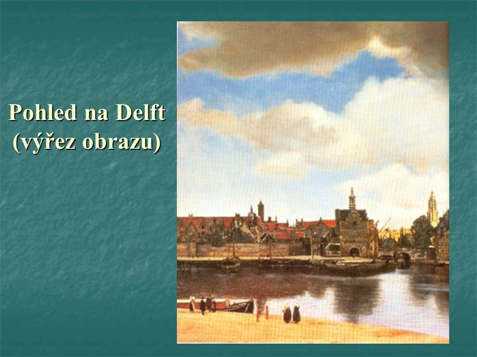 Pohled na Delft (výřez obrazu)