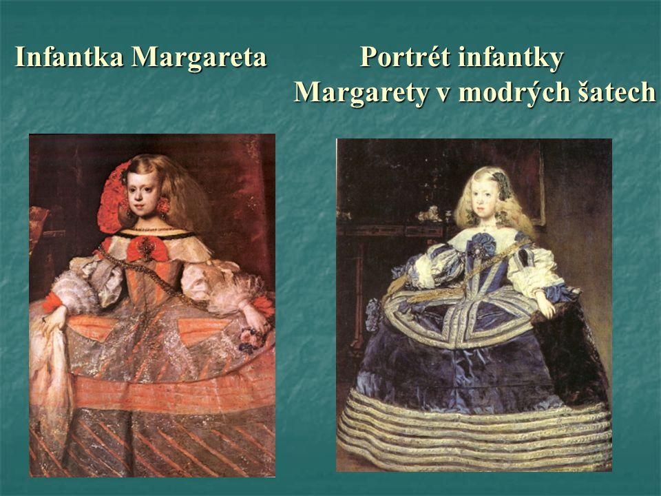 Infantka Margareta Portrét infantky Infantka Margareta Portrét infantky Margarety v modrých šatech Margarety v modrých šatech