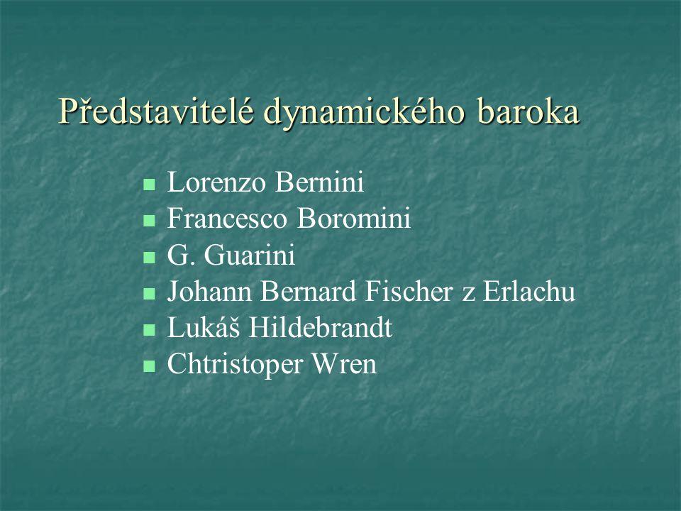 Představitelé dynamického baroka Lorenzo Bernini Francesco Boromini G.