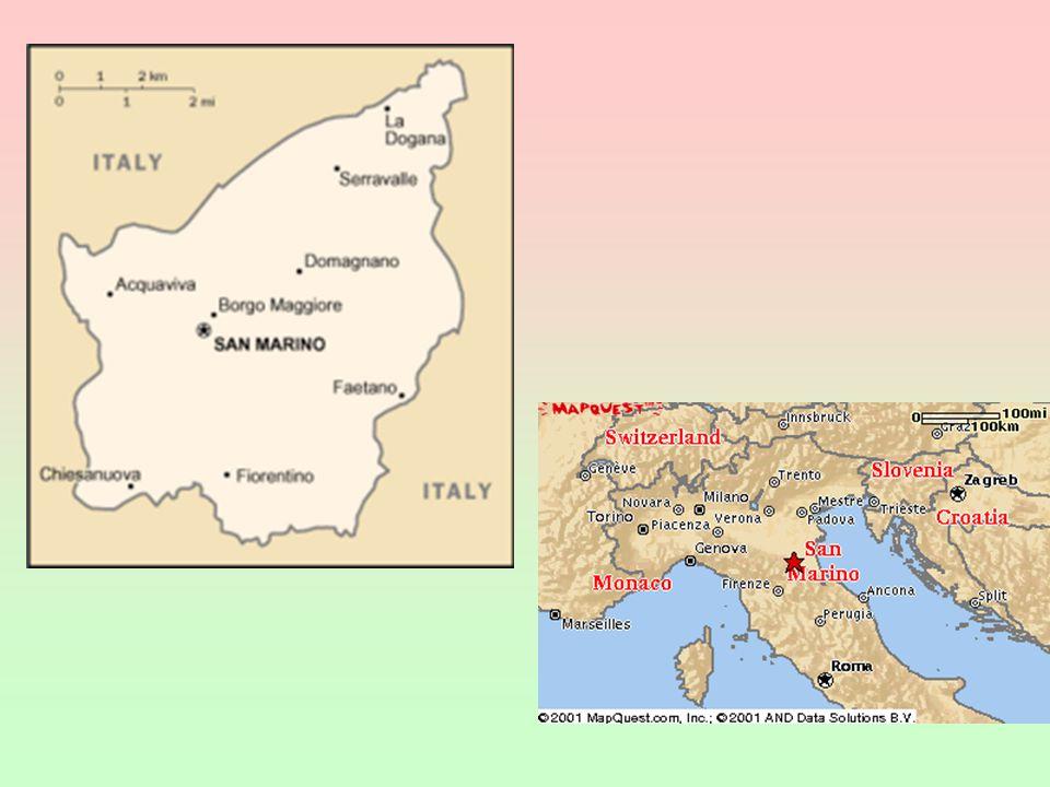 v celní a měnové unii s Itálií hlavním hospodářským odvětvím je cestovní ruch; vydávání poštovních známek 301 sv.