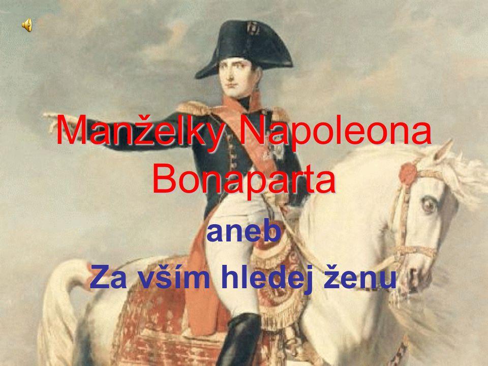 Manželky Napoleona Bonaparta aneb Za vším hledej ženu