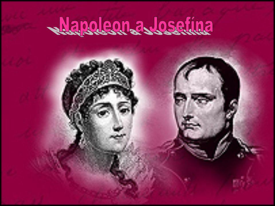Seznámení s Napoleonem Napoleon Bonaparte byl o 6 let mladší než ona, zamiloval se do ní a roku 1796 se vzali Na Napoleonovo přání začala používat výhradně jméno Josefína (ženská obdoba jejího jména Joseph).