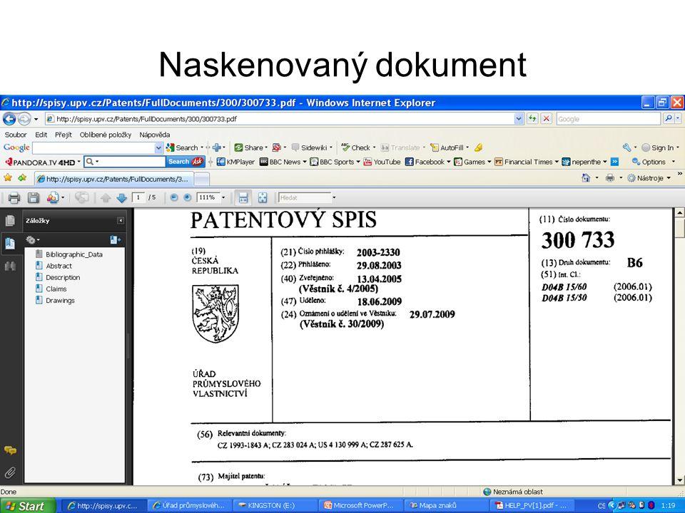Naskenovaný dokument