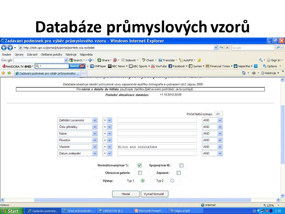 Databáze průmyslových vzorů