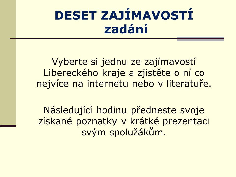 Test znalostí 1.Které okresy tvoří Liberecký kraj.