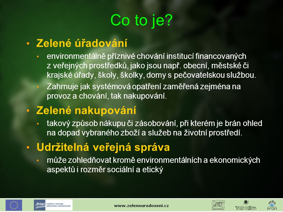 www.zeleneuradovani.cz Co to je.
