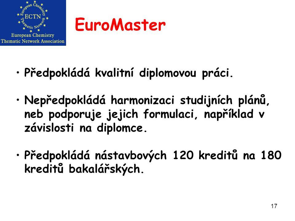 17 EuroMaster Předpokládá kvalitní diplomovou práci.