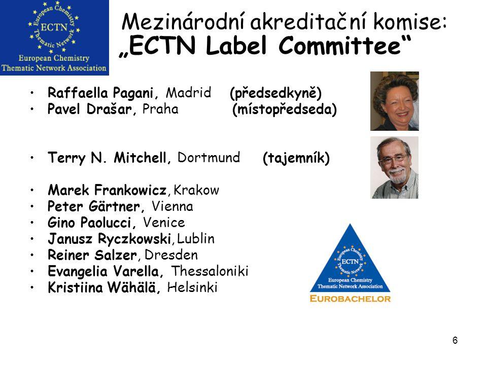 """6 """"ECTN Label Committee Raffaella Pagani, Madrid (předsedkyně) Pavel Drašar, Praha (místopředseda) Terry N."""