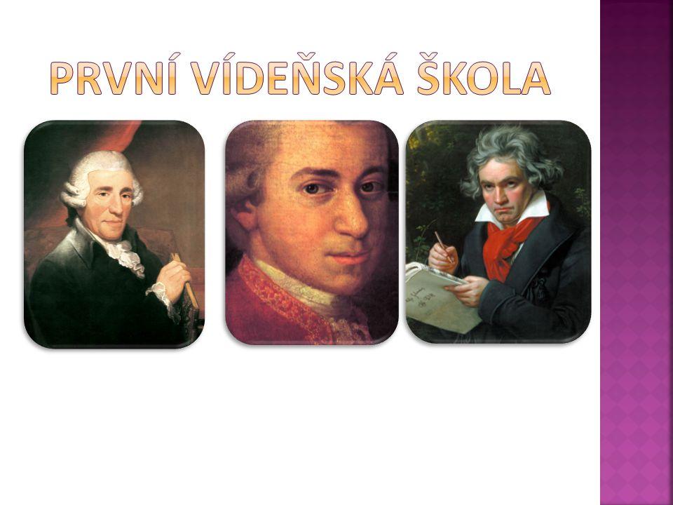 1732 Rohrau – 1809 Vídeň  rakouský hudební skladatel  otec smyčcového kvarteta  dvorní kapelník u hraběte Morzina Lukavicích u Plzně u knížete Esterházyho (30 let)  ustanovil složení malého orchestru smyčce + flétna + hoboj + fagot + lesní roh + trubka + bicí  kantor  Beethoven  přítel Mozarta cesty: Londýn 2x 4 15 16