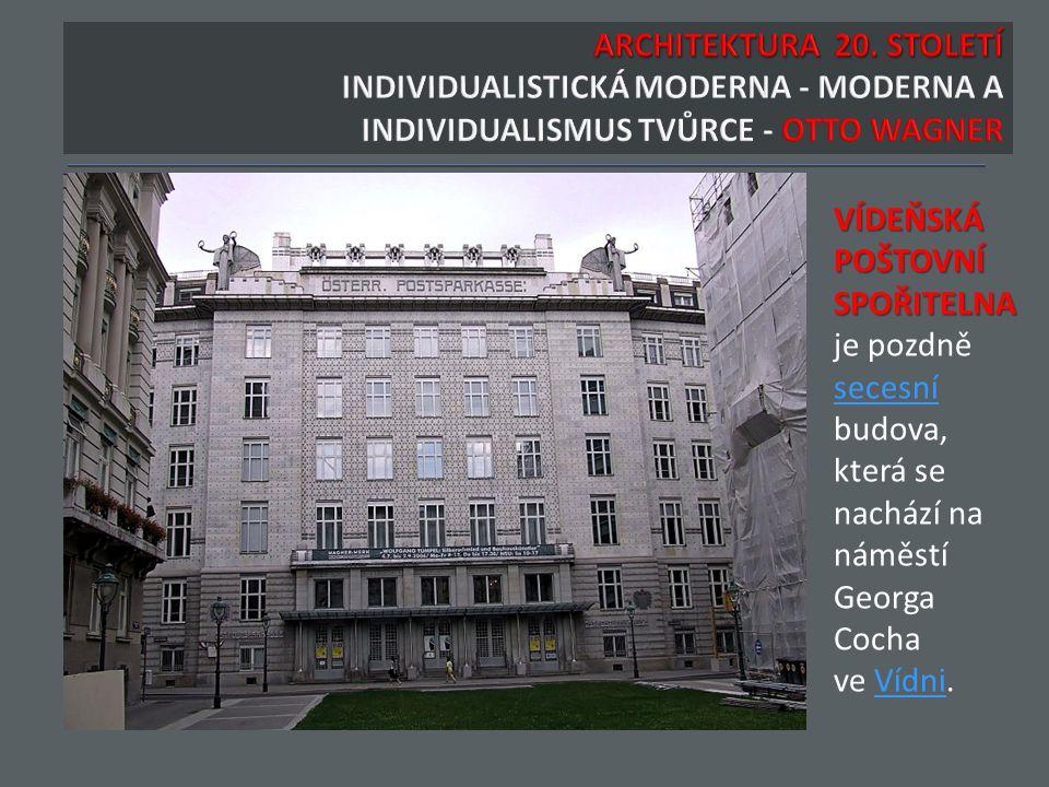 VÍDEŇSKÁ POŠTOVNÍ SPOŘITELNA je pozdně secesní budova, která se nachází na náměstí Georga Cocha ve Vídni.Vídni