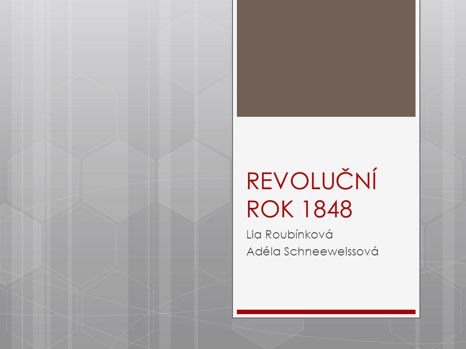 REVOLUČNÍ ROK 1848 Lia Roubínková Adéla Schneeweissová