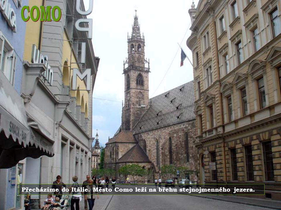 Lugano je hlavním městem kantonu Ticino