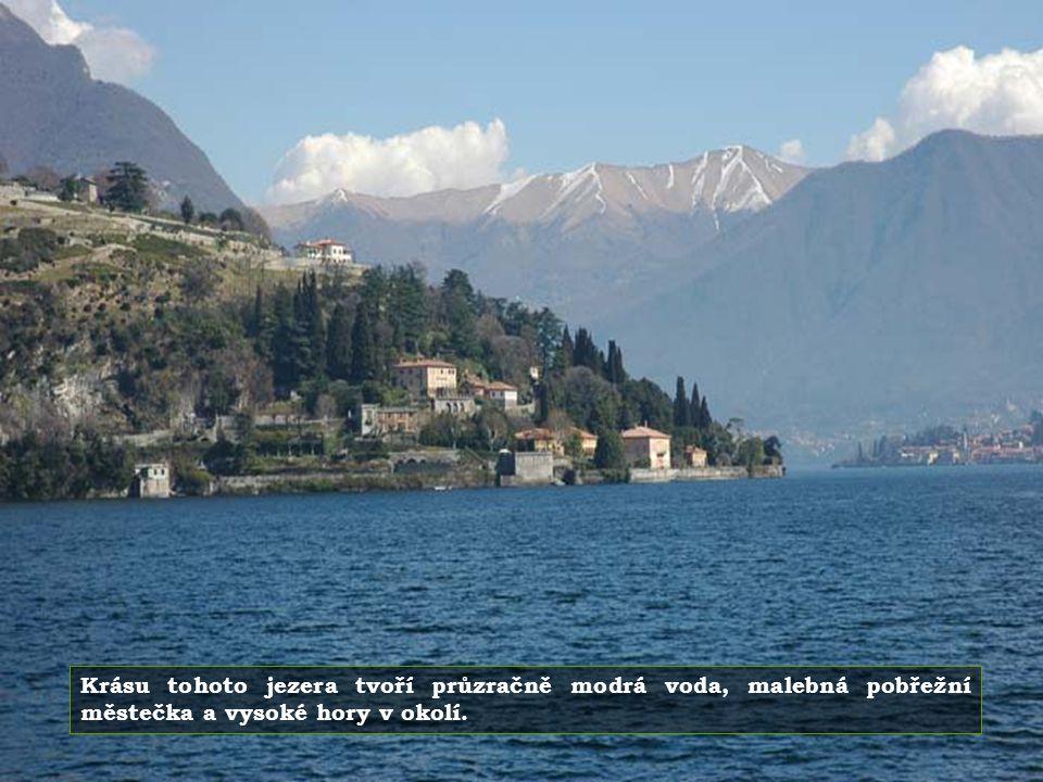 Lago di Como je jezero ledovcového původu. Na všech stranách je obklopeno nádhernými horami.